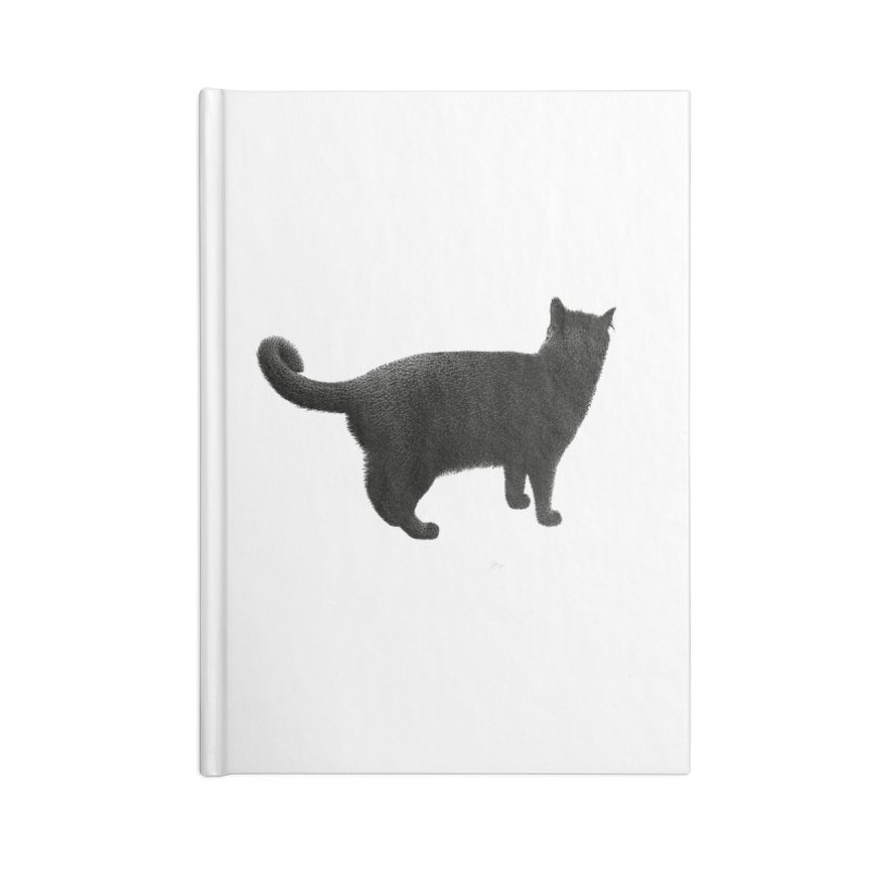 Black Cat by Igor Pose Accessories Lined Journal Notebook by IgorPose's Artist Shop