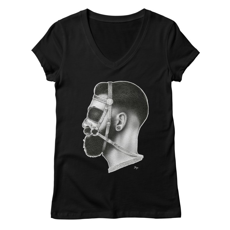Contemporary Man by Igor Pose Women's Regular V-Neck by IgorPose's Artist Shop