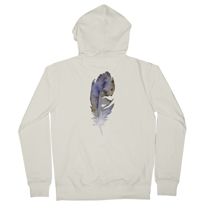 Little Feather by Igor Pose Women's French Terry Zip-Up Hoody by IgorPose's Artist Shop