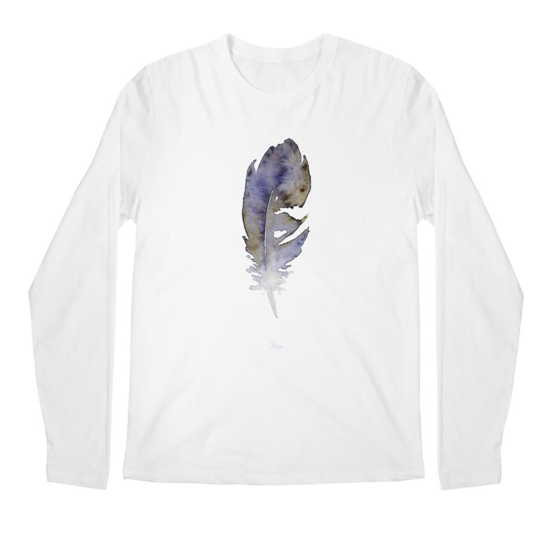 Little Feather by Igor Pose Men's Regular Longsleeve T-Shirt by IgorPose's Artist Shop