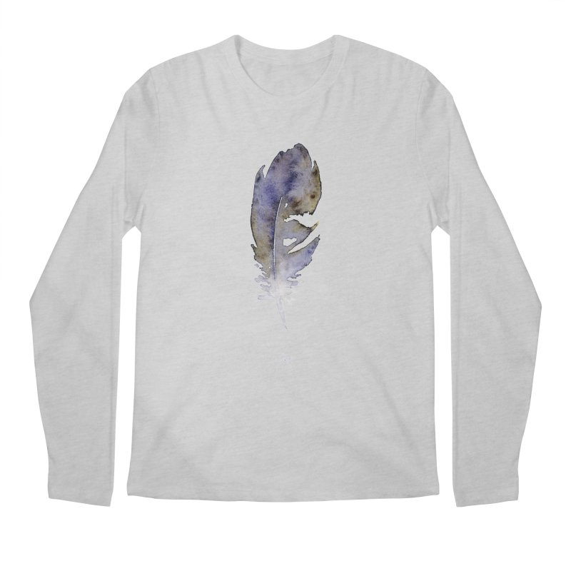 Little Feather by Igor Pose Men's Longsleeve T-Shirt by IgorPose's Artist Shop