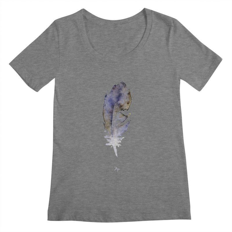 Little Feather by Igor Pose Women's Scoopneck by IgorPose's Artist Shop