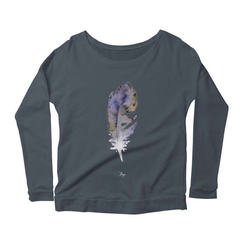 Little Feather by Igor Pose Women's Scoop Neck Longsleeve T-Shirt by IgorPose's Artist Shop