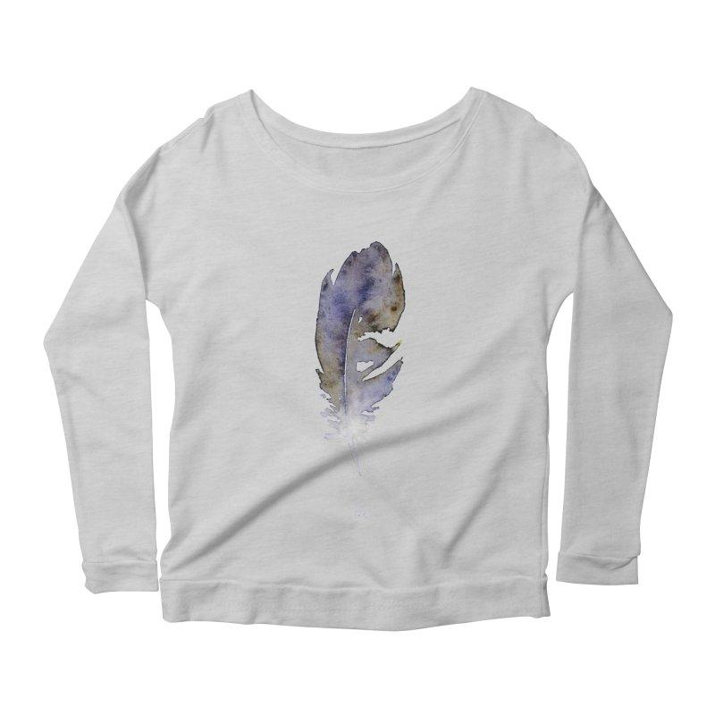 Little Feather by Igor Pose Women's Scoop Neck Longsleeve T-Shirt by IgorPose's Artist Shop
