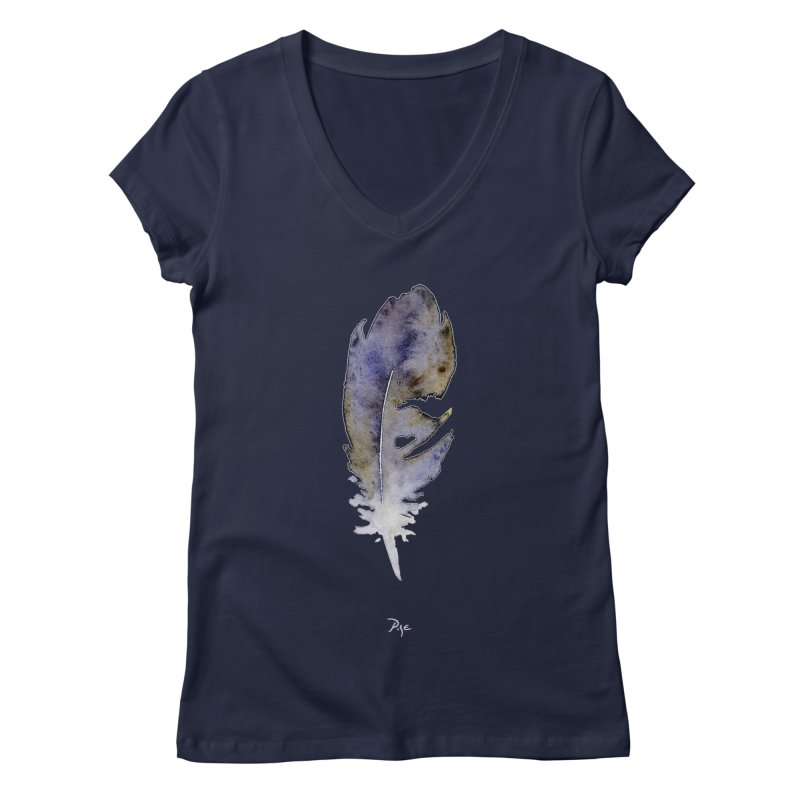Little Feather by Igor Pose Women's Regular V-Neck by IgorPose's Artist Shop