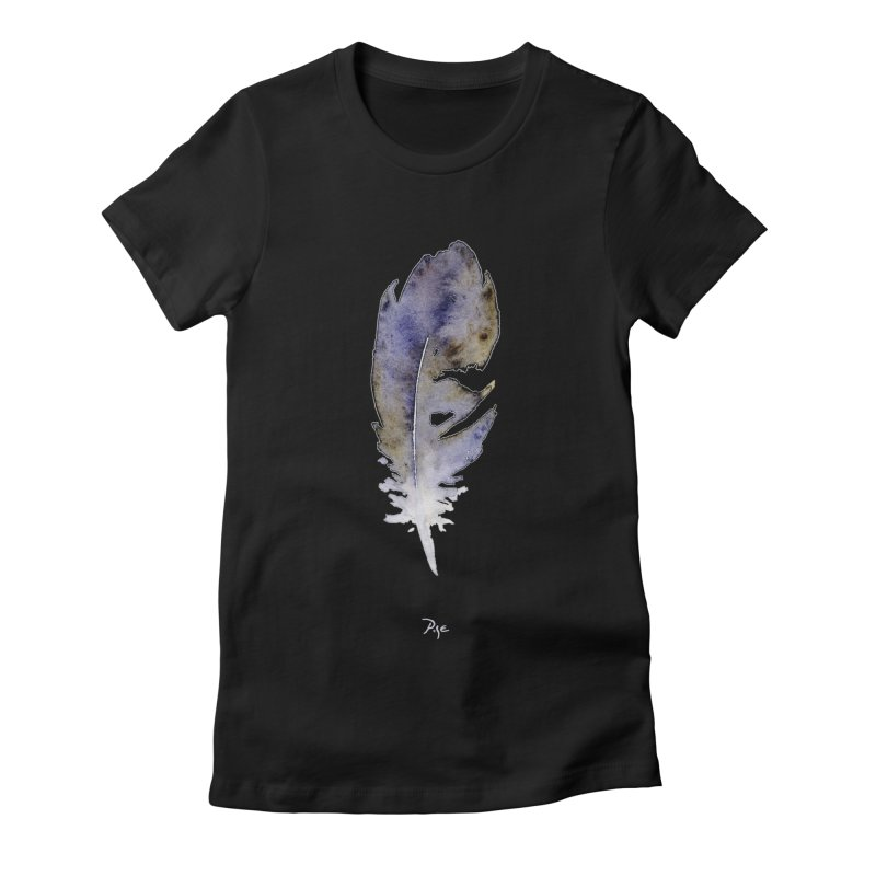 Little Feather by Igor Pose Women's Fitted T-Shirt by IgorPose's Artist Shop