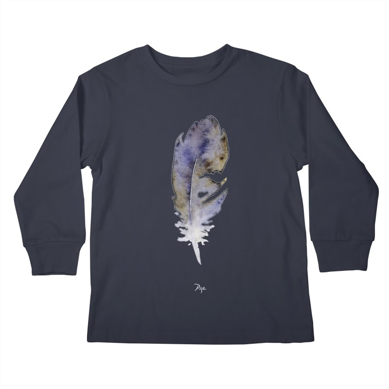 Little Feather by Igor Pose Kids Longsleeve T-Shirt by IgorPose's Artist Shop