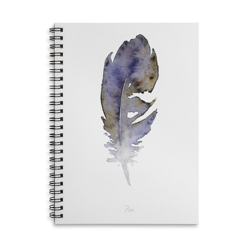 Little Feather by Igor Pose Accessories Lined Spiral Notebook by IgorPose's Artist Shop