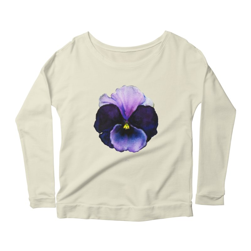 Pensée by Igor Pose Women's Longsleeve Scoopneck  by IgorPose's Artist Shop