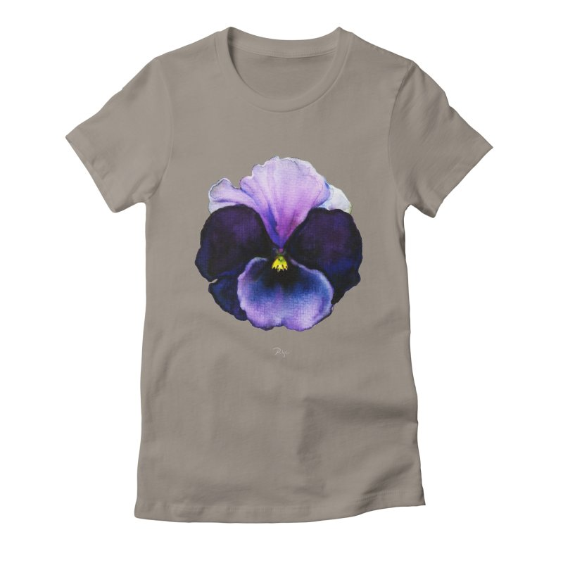 Pensée by Igor Pose Women's Fitted T-Shirt by IgorPose's Artist Shop
