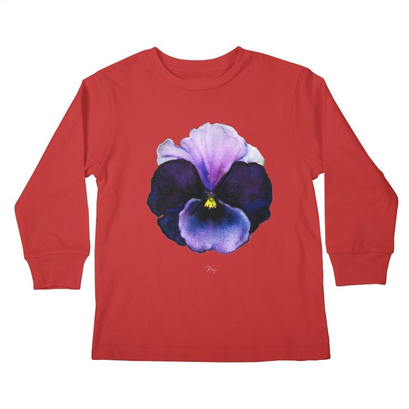 Pensée by Igor Pose Kids Longsleeve T-Shirt by IgorPose's Artist Shop