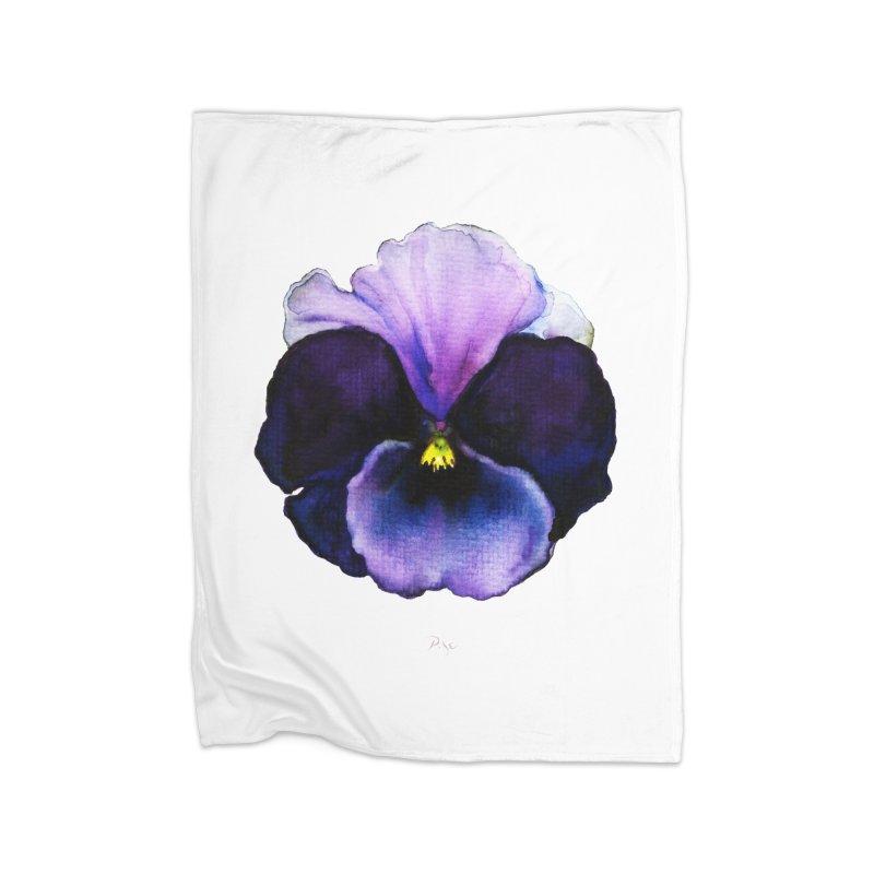 Pensée by Igor Pose Home Fleece Blanket Blanket by IgorPose's Artist Shop