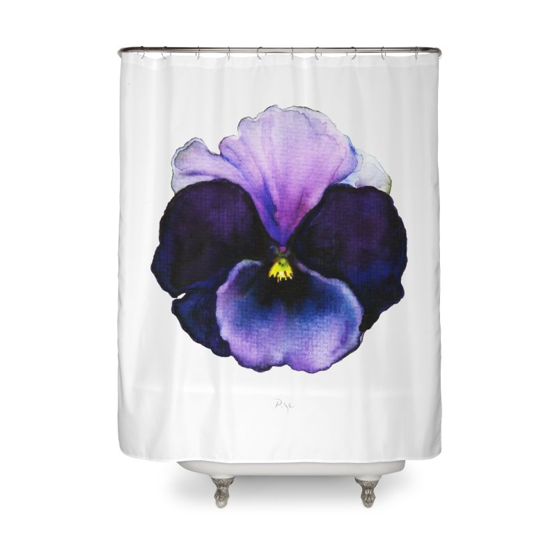 Pensée by Igor Pose Home Shower Curtain by IgorPose's Artist Shop