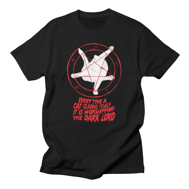 Every Time A Cat Cleans Itself It Is Worshipping The Dark Lord Men's T-Shirt by Iheartjlp