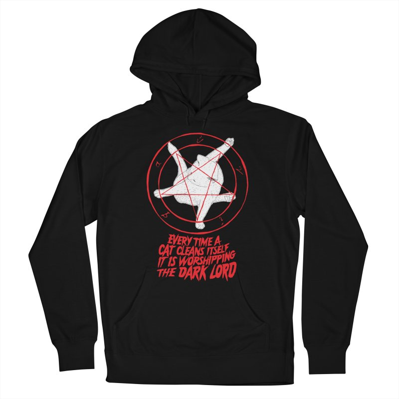 Every Time A Cat Cleans Itself It Is Worshipping The Dark Lord Men's Pullover Hoody by Iheartjlp
