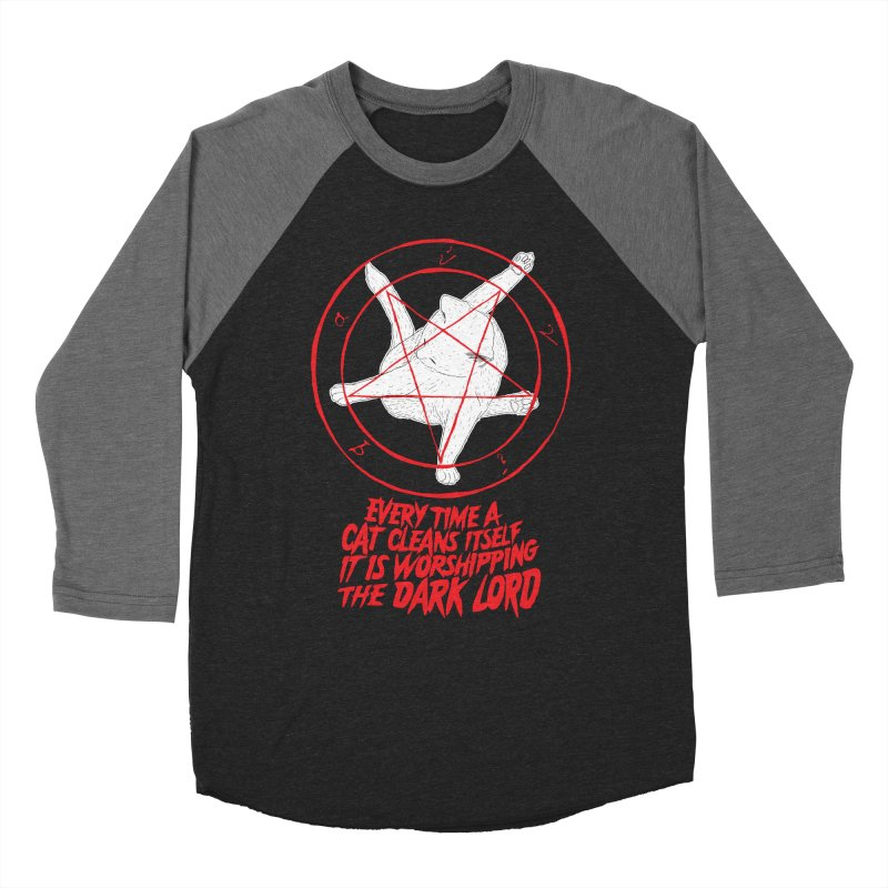 Every Time A Cat Cleans Itself It Is Worshipping The Dark Lord Women's Baseball Triblend T-Shirt by Iheartjlp