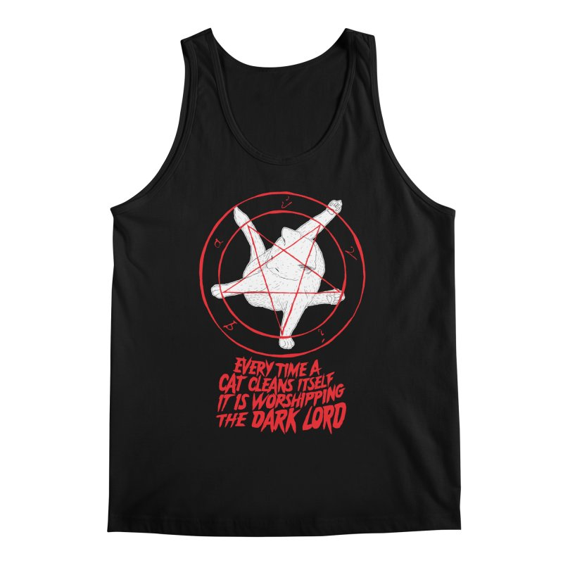 Every Time A Cat Cleans Itself It Is Worshipping The Dark Lord Men's Regular Tank by Iheartjlp