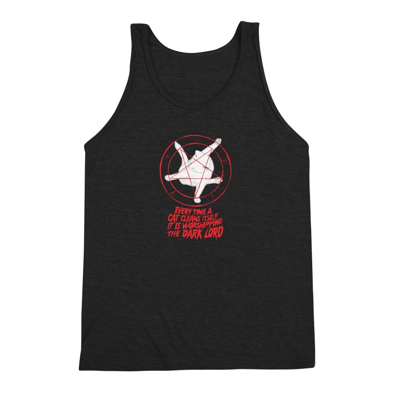 Every Time A Cat Cleans Itself It Is Worshipping The Dark Lord Men's Tank by Iheartjlp