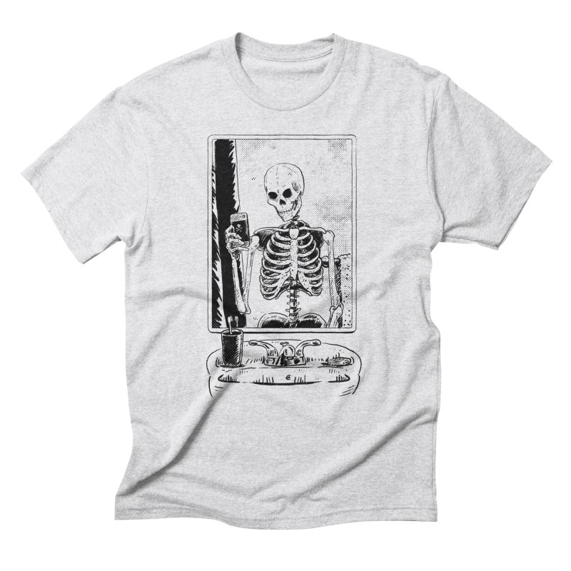Skelfie in Men's Triblend T-Shirt Heather White by Iheartjlp