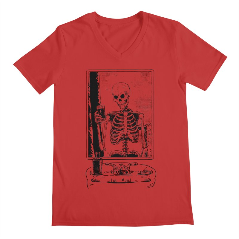 Skelfie Men's Regular V-Neck by Iheartjlp