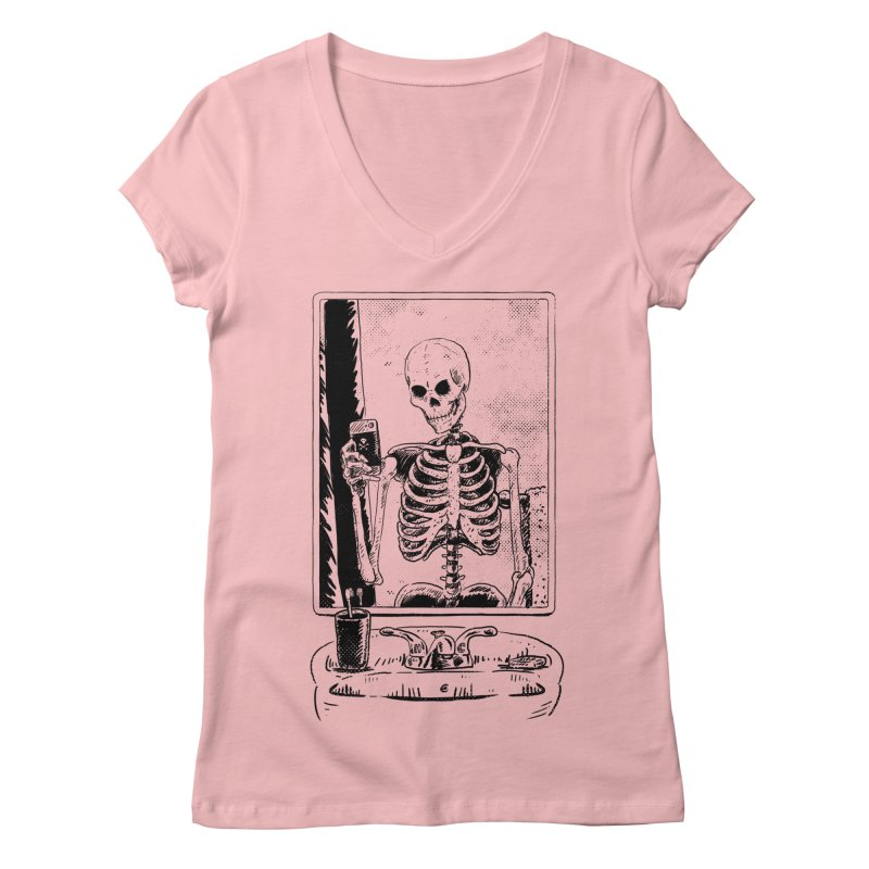 Skelfie Women's Regular V-Neck by Iheartjlp