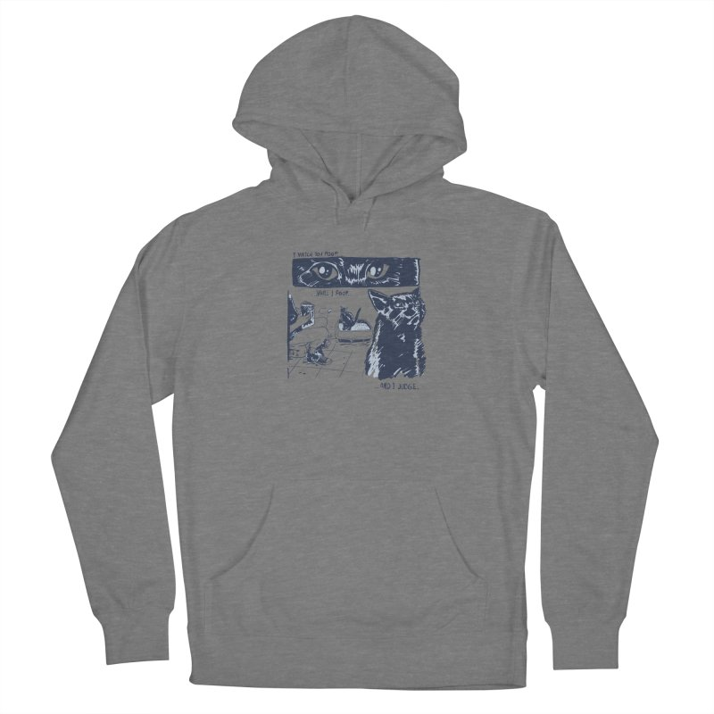 I Watch You Poop... Men's French Terry Pullover Hoody by Iheartjlp