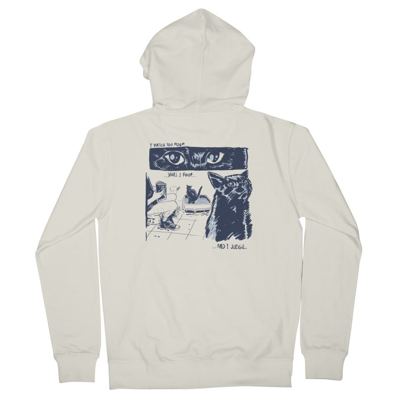 I Watch You Poop... Men's French Terry Zip-Up Hoody by Iheartjlp