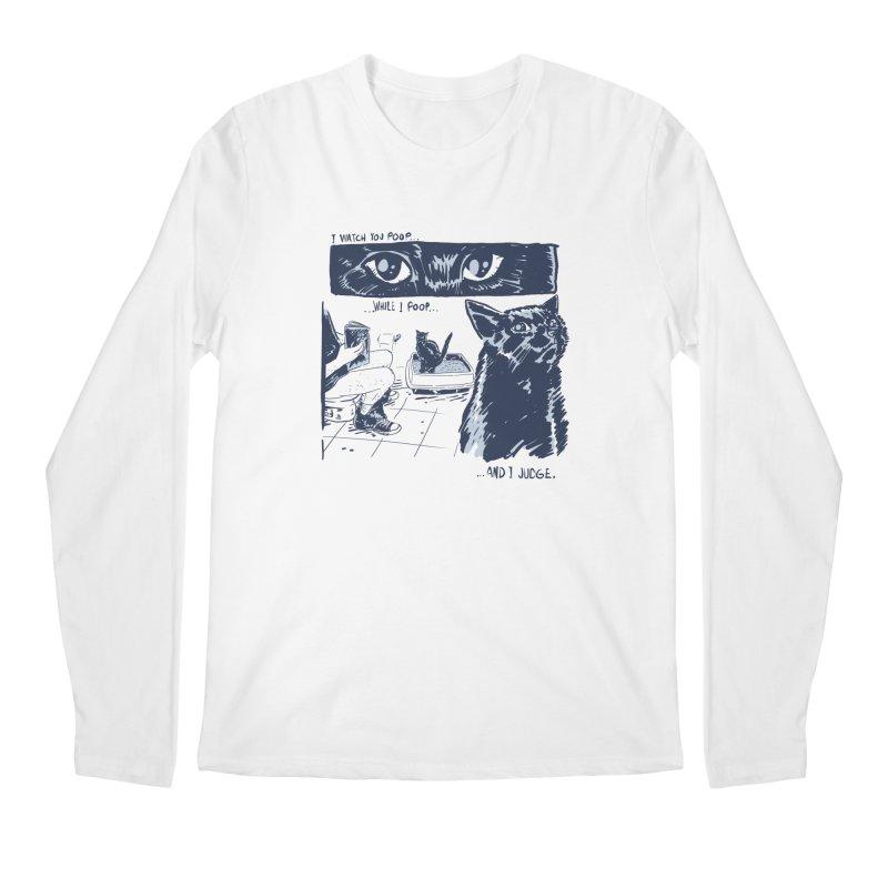 I Watch You Poop... Men's Regular Longsleeve T-Shirt by Iheartjlp