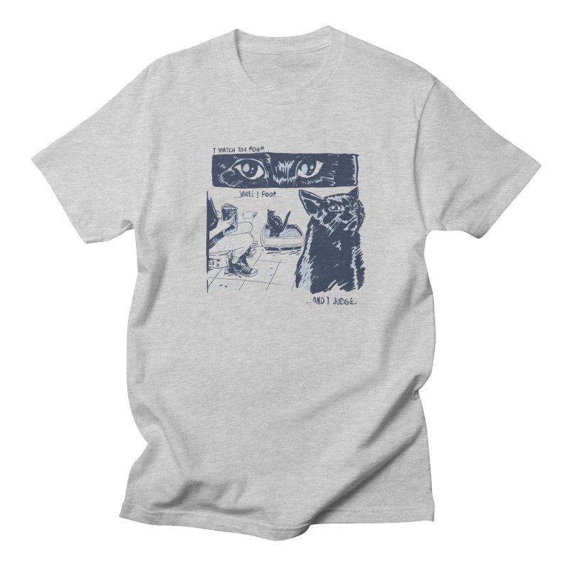 I Watch You Poop... Men's Regular T-Shirt by Iheartjlp