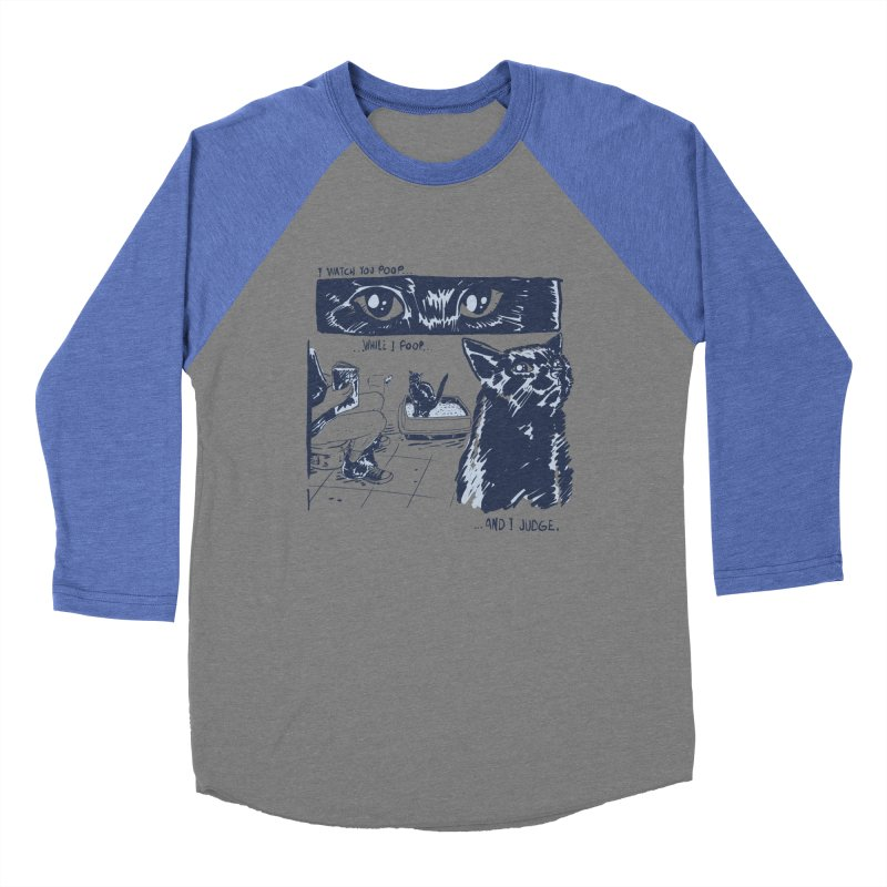 I Watch You Poop... Men's Baseball Triblend Longsleeve T-Shirt by Iheartjlp