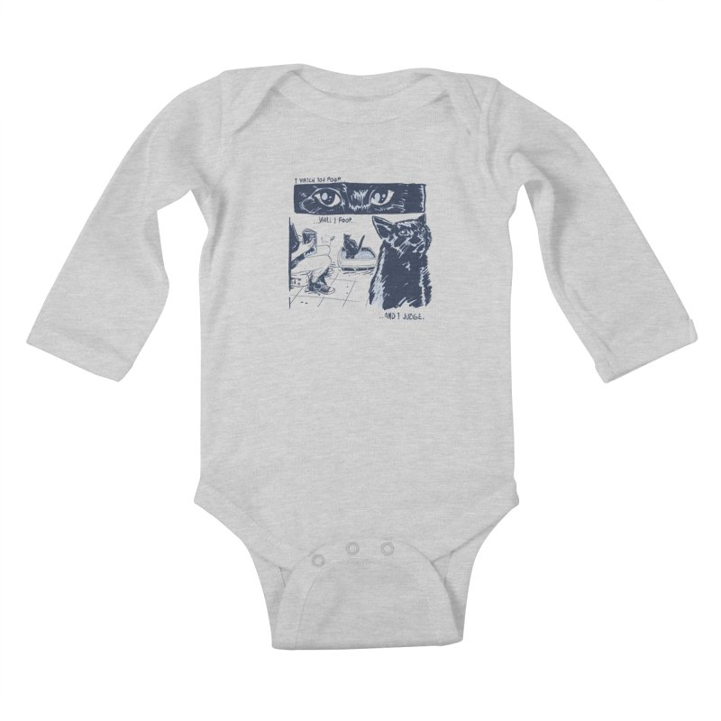 I Watch You Poop... Kids Baby Longsleeve Bodysuit by Iheartjlp