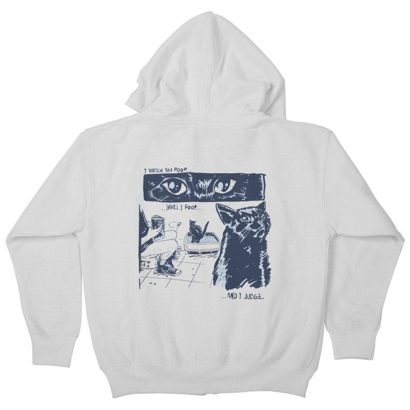 I Watch You Poop... Kids Zip-Up Hoody by Iheartjlp