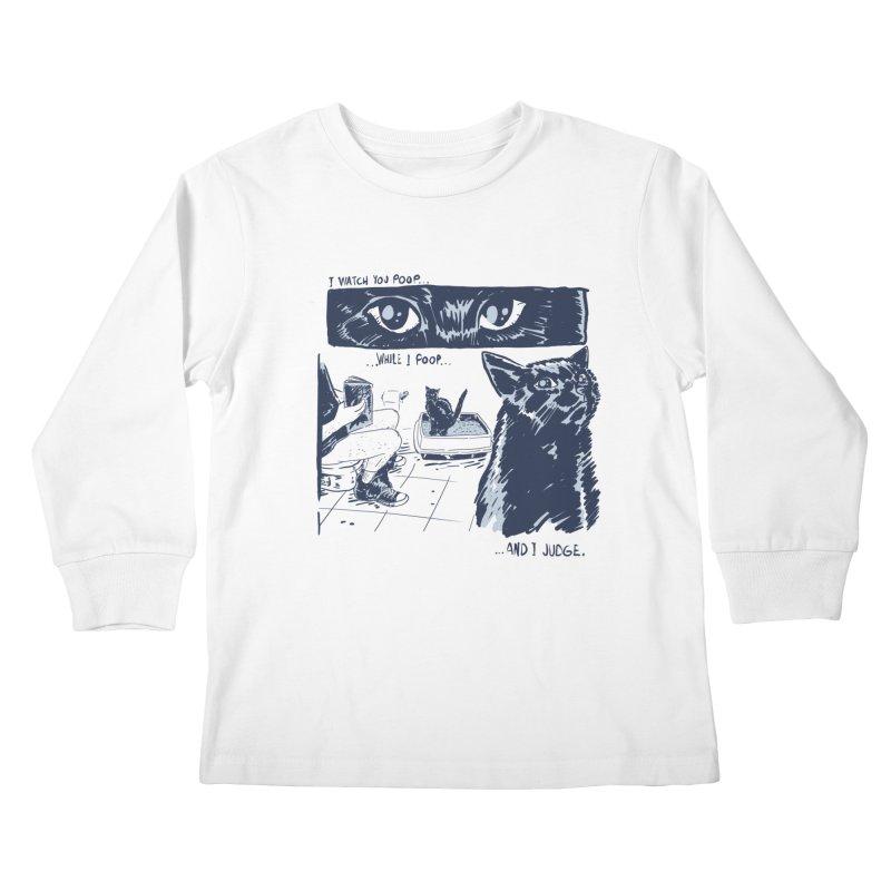 I Watch You Poop... Kids Longsleeve T-Shirt by Iheartjlp