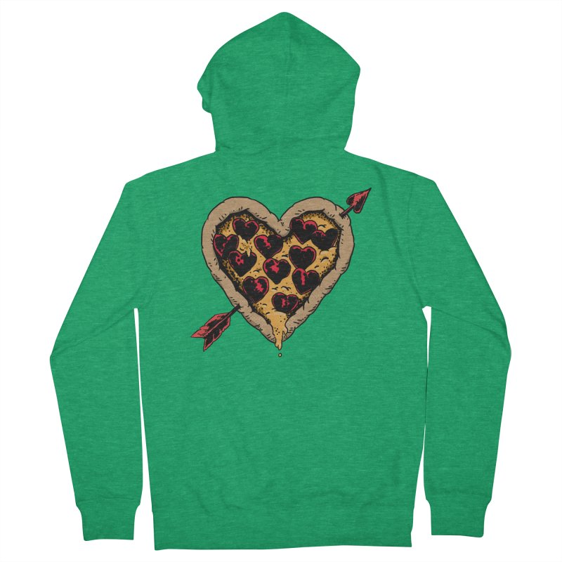 Pizza Love Men's Zip-Up Hoody by Iheartjlp