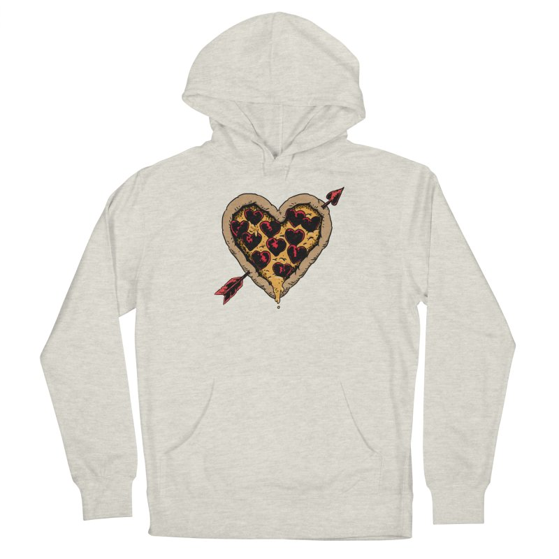 Pizza Love Men's French Terry Pullover Hoody by Iheartjlp