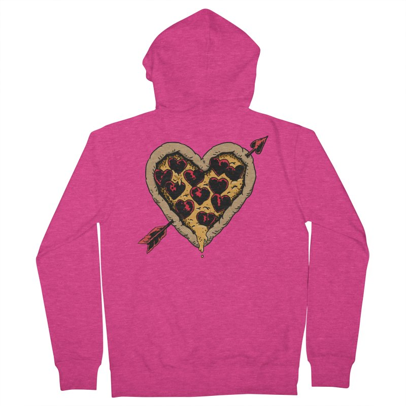 Pizza Love Women's French Terry Zip-Up Hoody by Iheartjlp