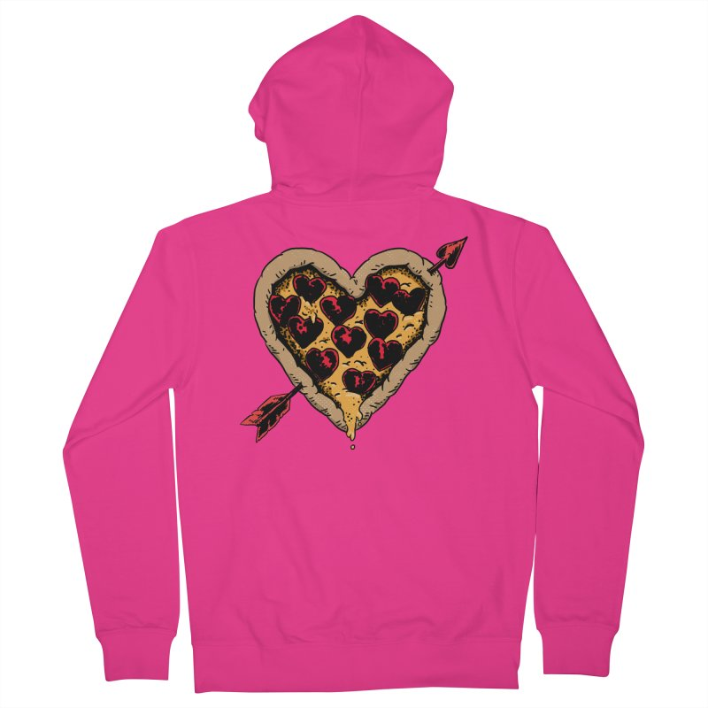 Pizza Love Men's French Terry Zip-Up Hoody by Iheartjlp