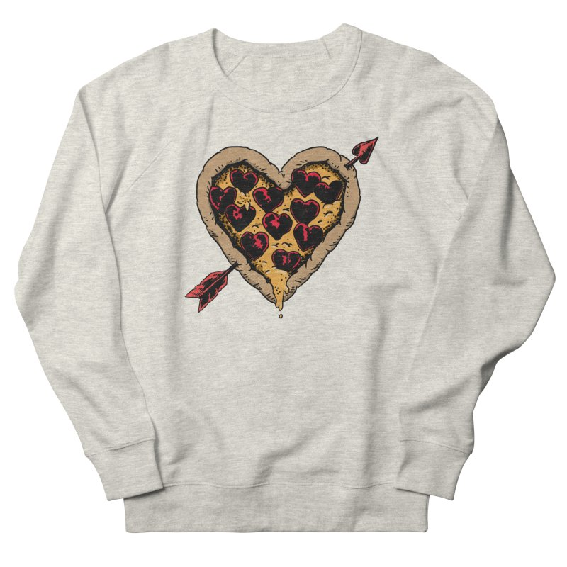 Pizza Love Women's French Terry Sweatshirt by Iheartjlp