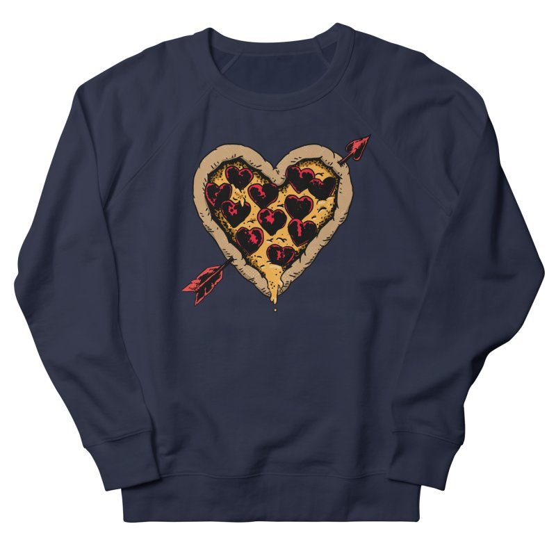 Pizza Love Men's French Terry Sweatshirt by Iheartjlp