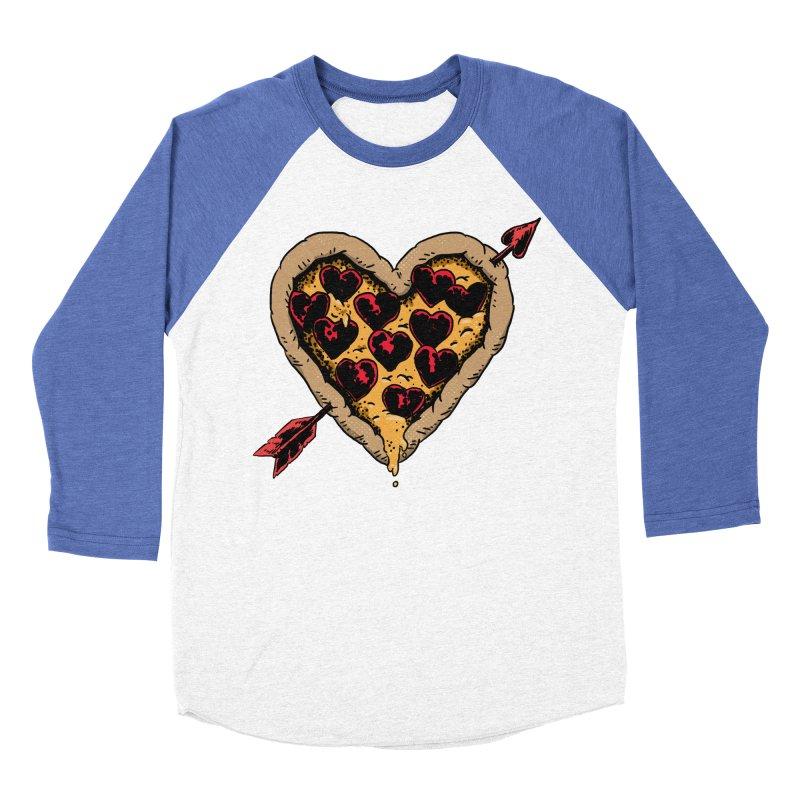 Pizza Love Women's Baseball Triblend Longsleeve T-Shirt by Iheartjlp
