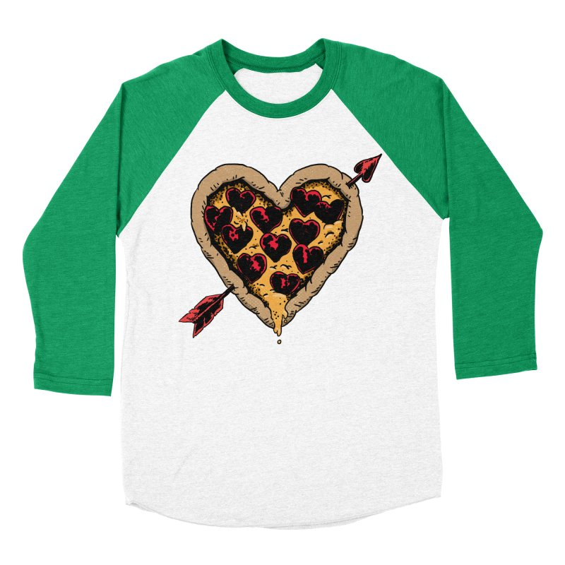 Pizza Love Women's Baseball Triblend Longsleeve T-Shirt by Iheartjlp