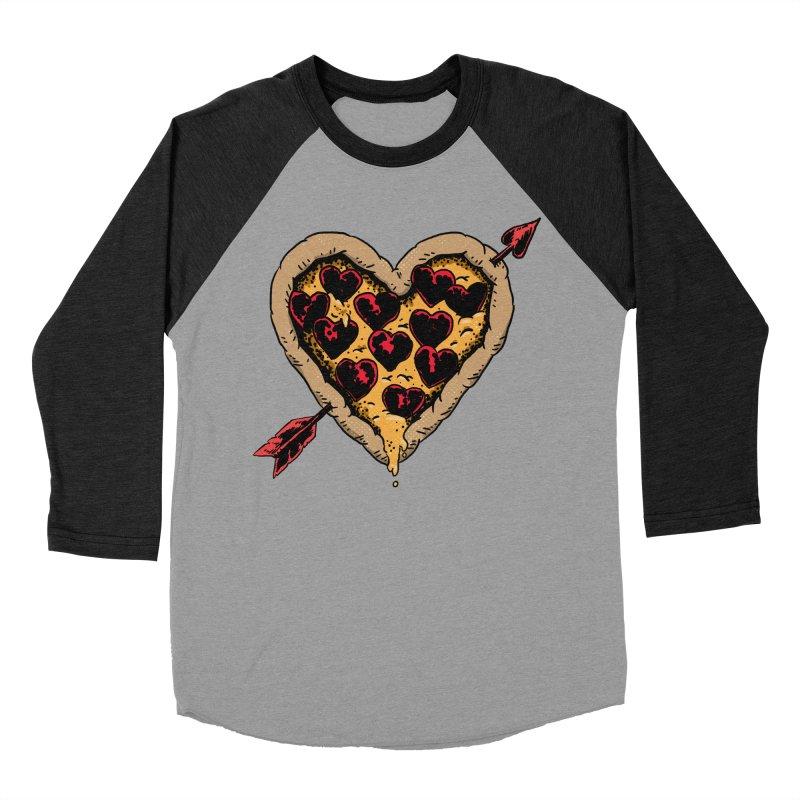 Pizza Love Women's Baseball Triblend T-Shirt by Iheartjlp