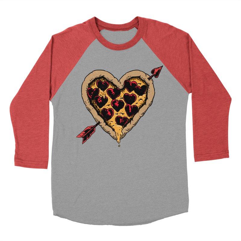 Pizza Love Men's Baseball Triblend Longsleeve T-Shirt by Iheartjlp