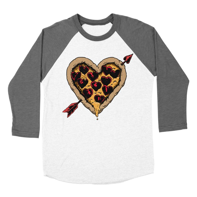 Pizza Love Men's Baseball Triblend Longsleeve T-Shirt by Iheartjlp