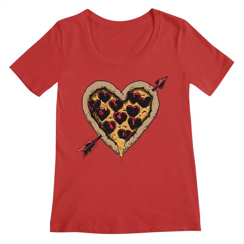 Pizza Love Women's Regular Scoop Neck by Iheartjlp