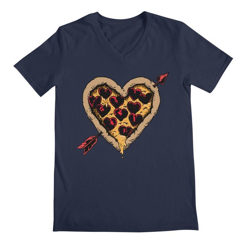 Pizza Love Men's V-Neck by Iheartjlp