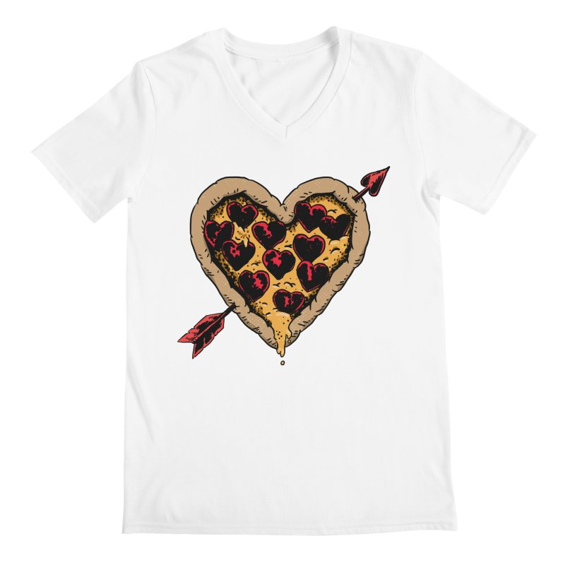 Pizza Love Men's V-Neck by Iheartjlp