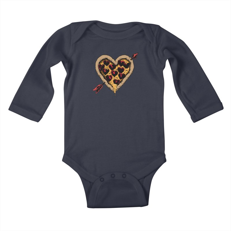 Pizza Love Kids Baby Longsleeve Bodysuit by Iheartjlp