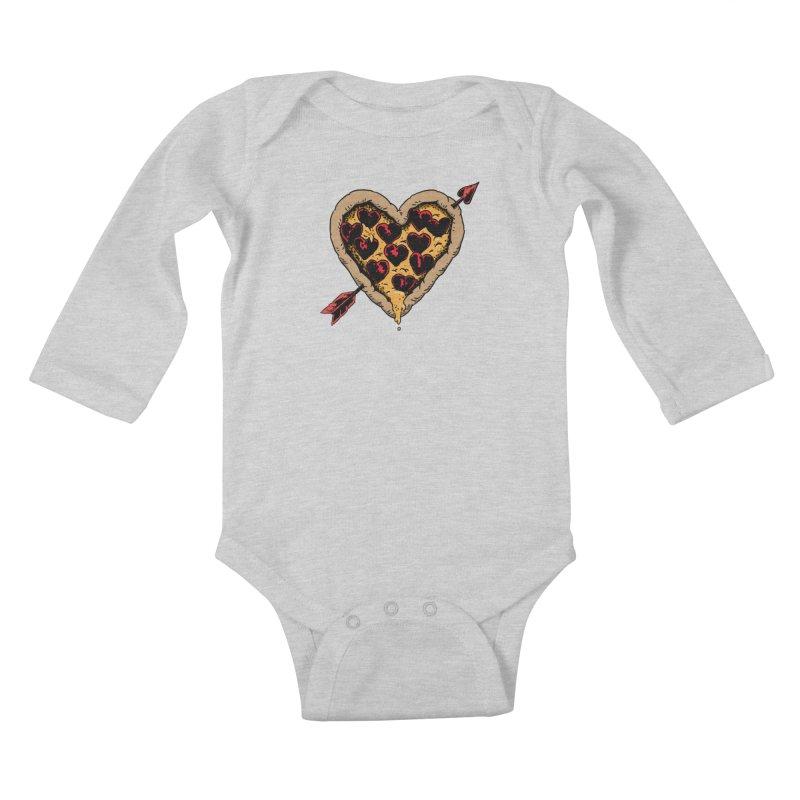 Pizza Love Kids Baby Longsleeve Bodysuit by Iheartjlp