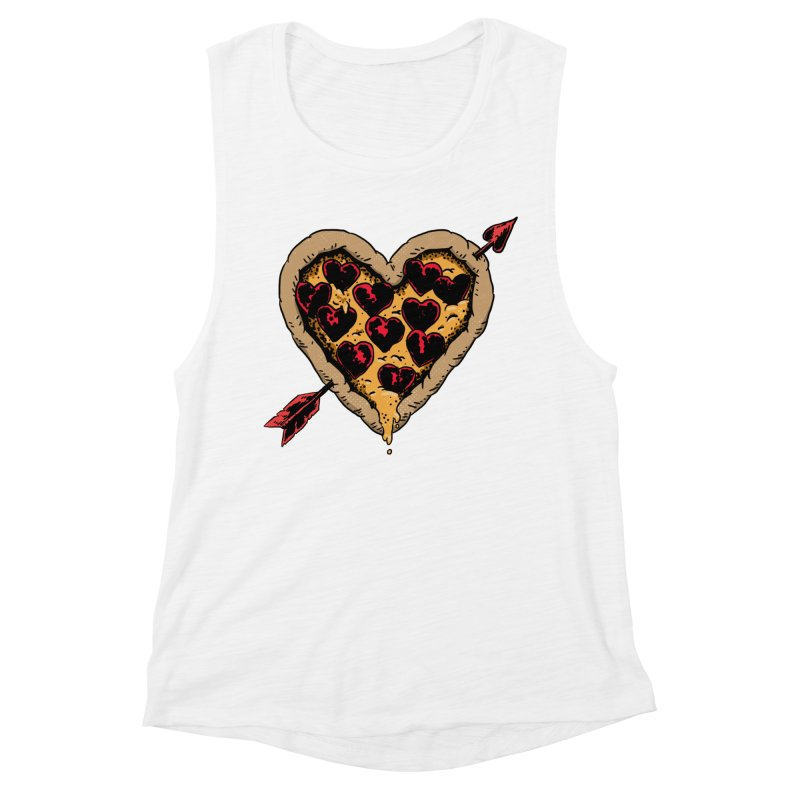 Pizza Love Women's Muscle Tank by Iheartjlp